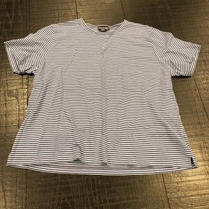 Lands' End | XL 18/20 | Blue & White Stripe Shirt